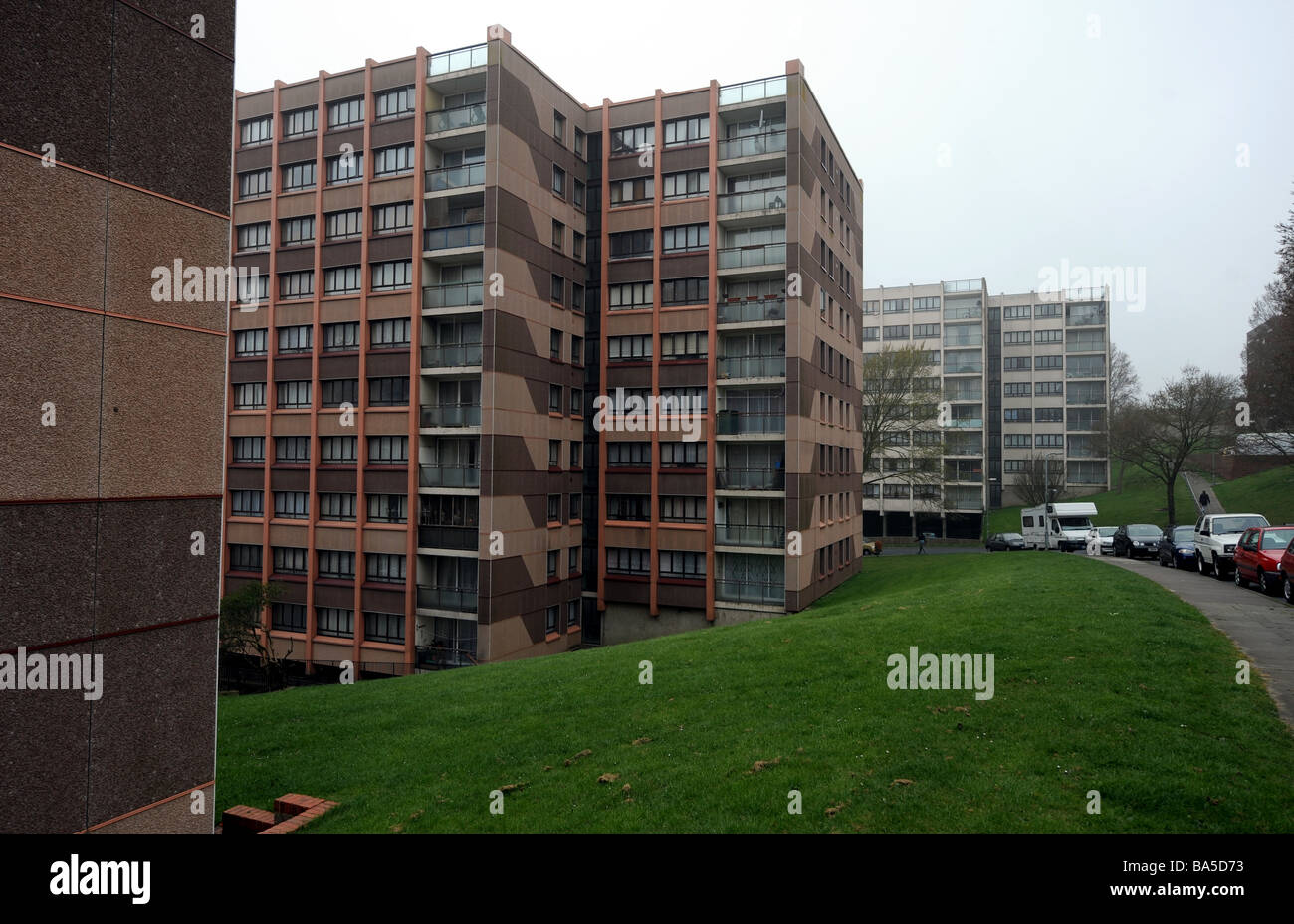 The Swanborough council flats on the Whitehawk estate in Brighton Sussex Stock Photo