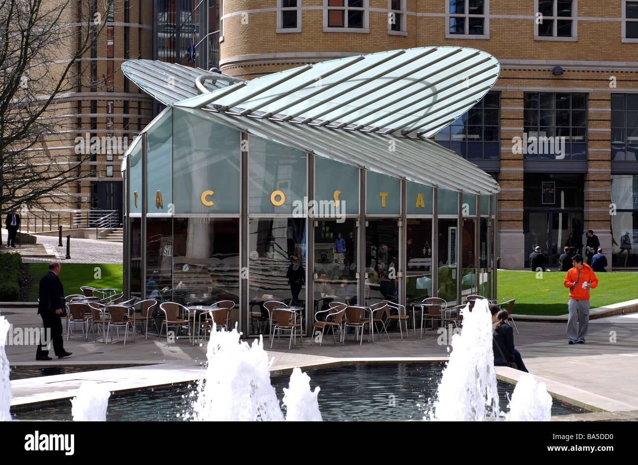 Costa Coffee Building Brindley Place Birmingham England
