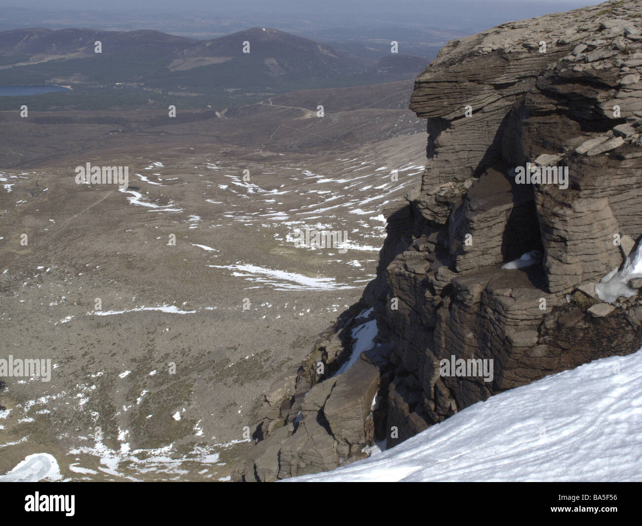 Cairngorm mountains looking towards Loch Morlich Highlands Scotland - Stock Image