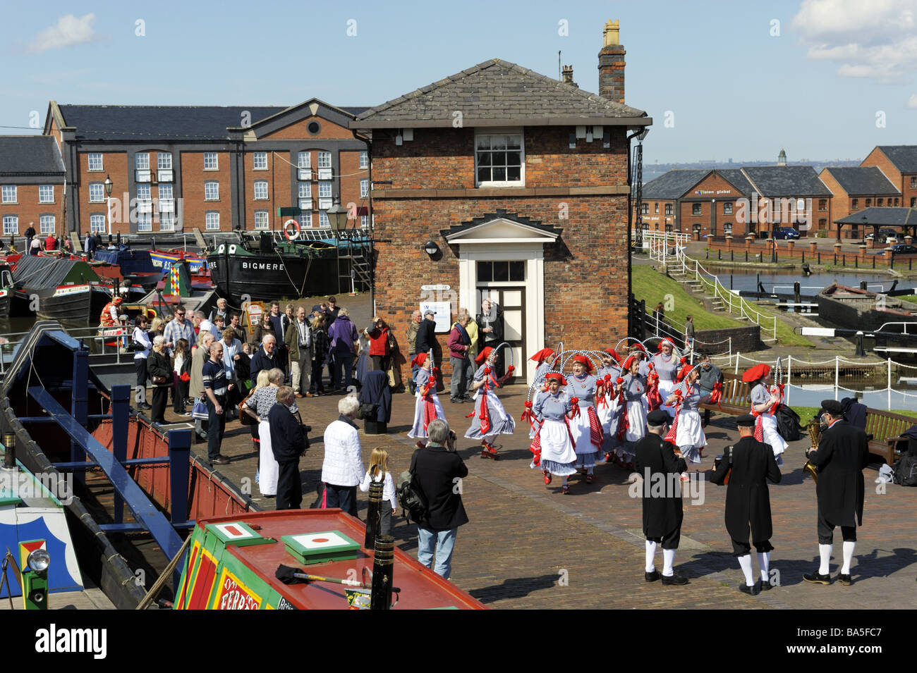 Poynton Jemmers dancing at The Boat Museum, Ellesmere Port, Cheshire. - Stock Image