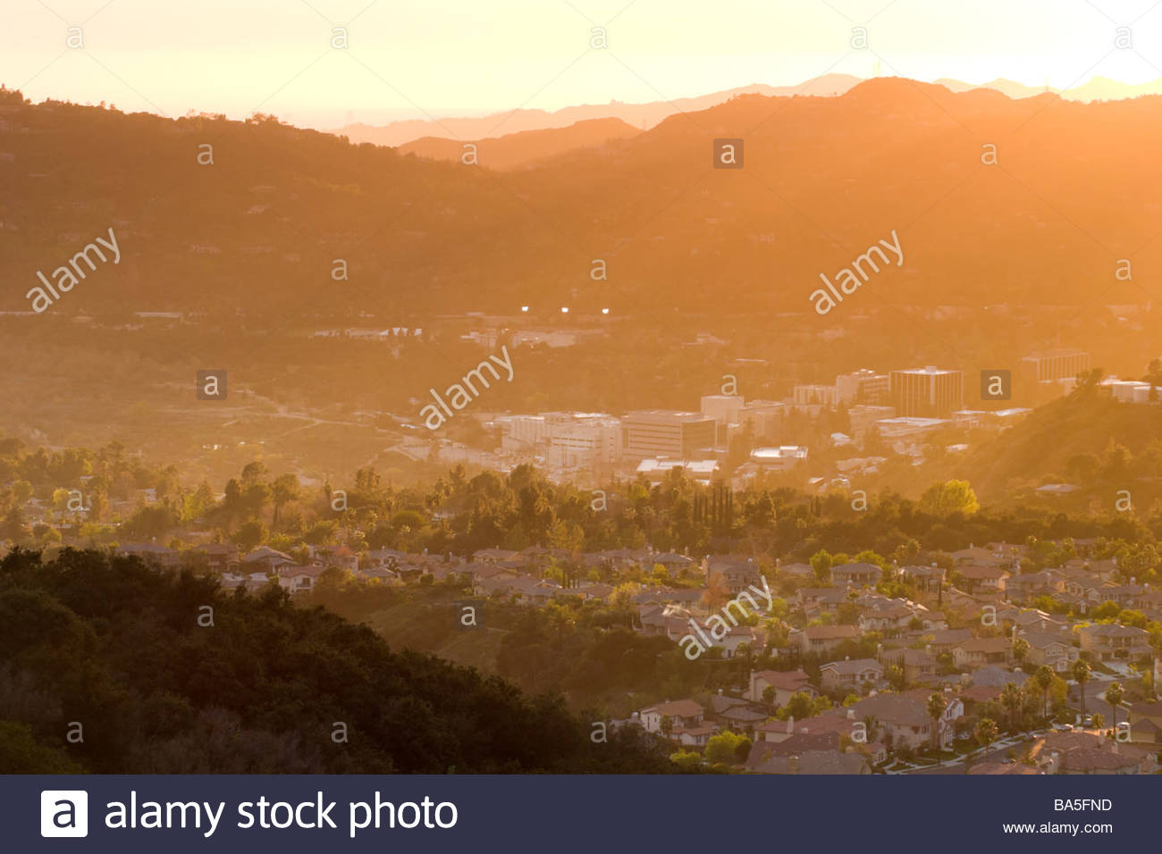 Jet Propulsion Laboratory JPL at Sunset Pasadena California - Stock Image