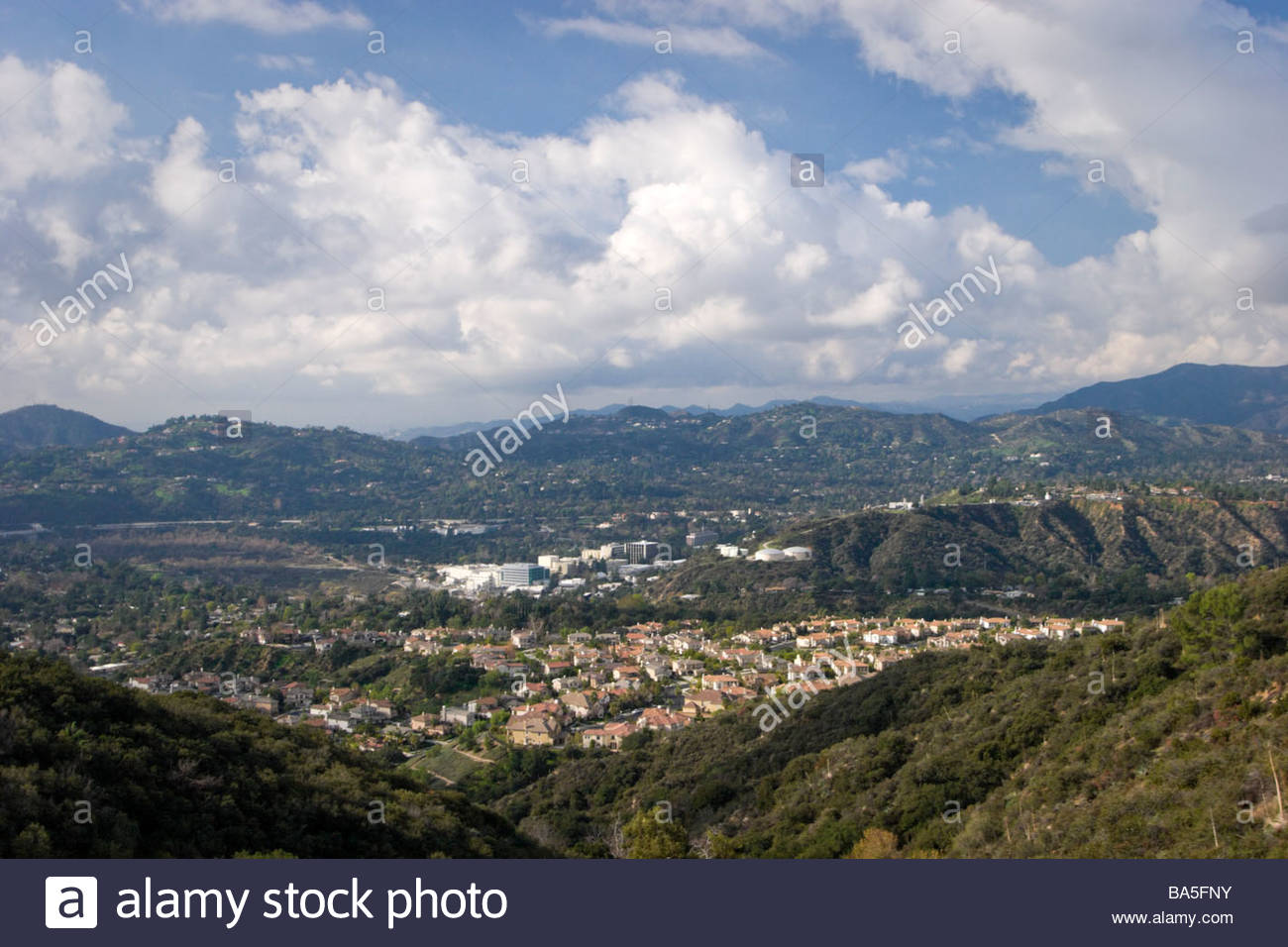 Scenic View of Jet Propulsion Laboratory from a Distance Pasadena California - Stock Image