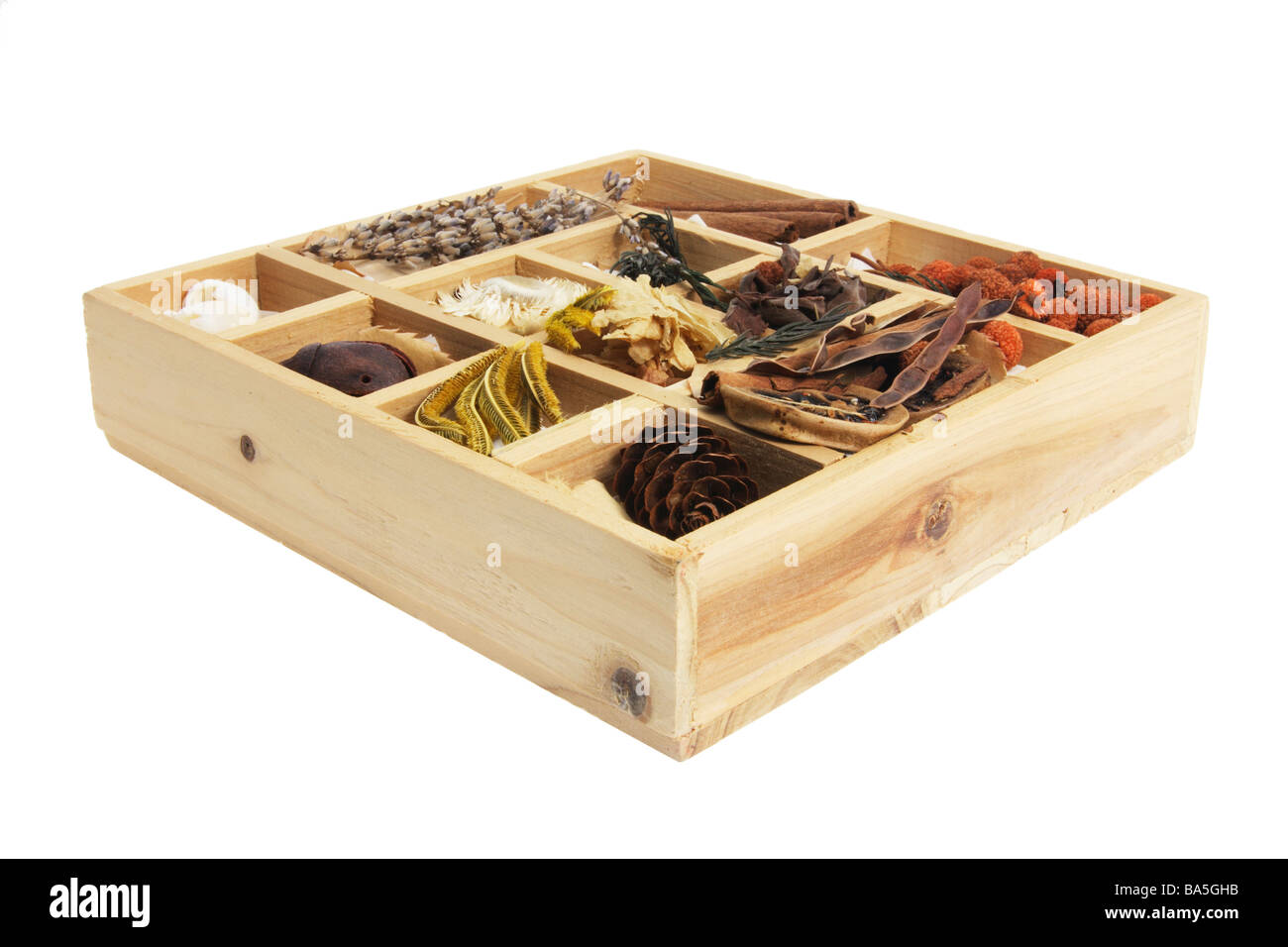 Box of Potpourri - Stock Image