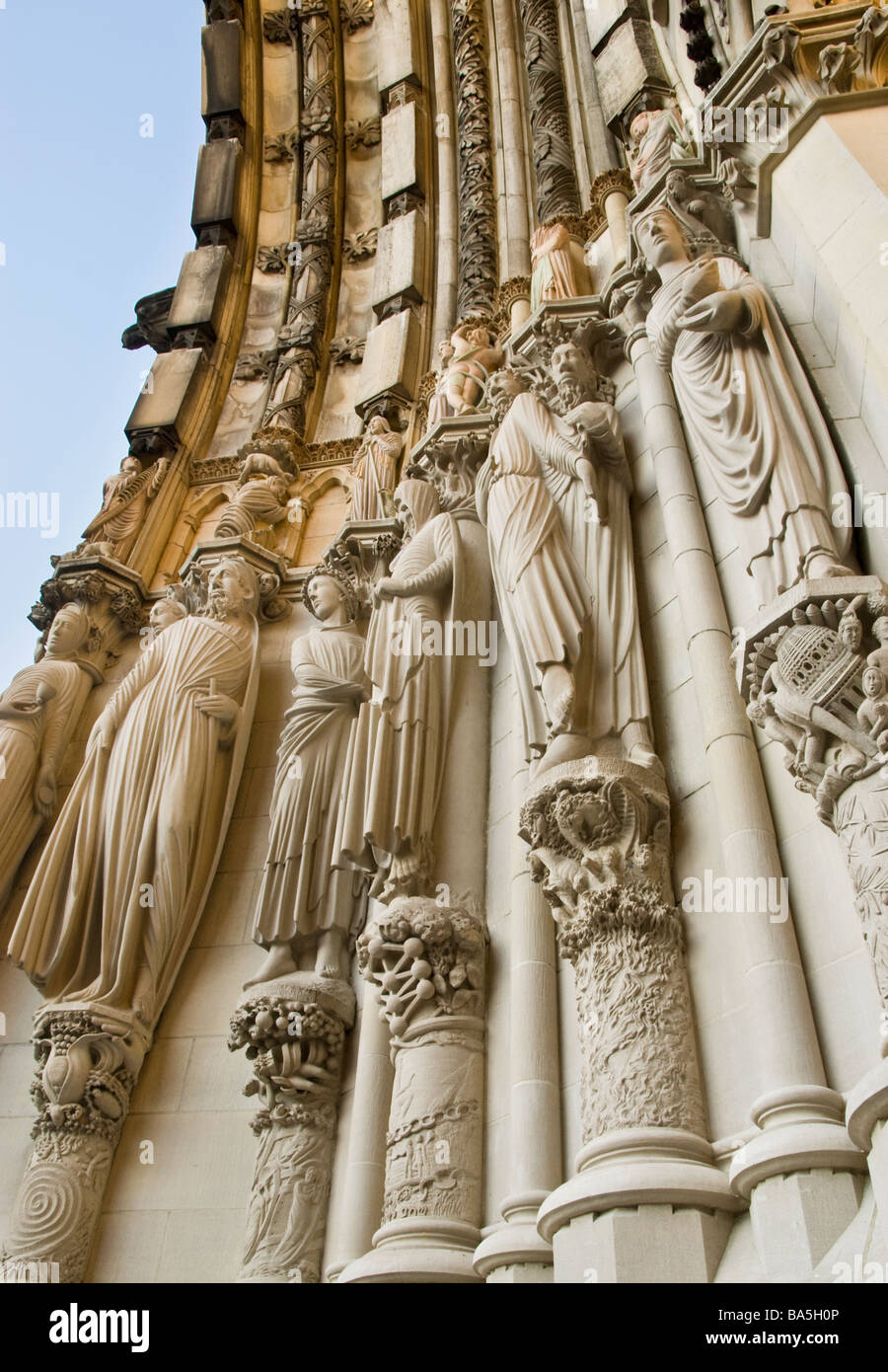 Cathedral of St John the Divine in New York City - Stock Image