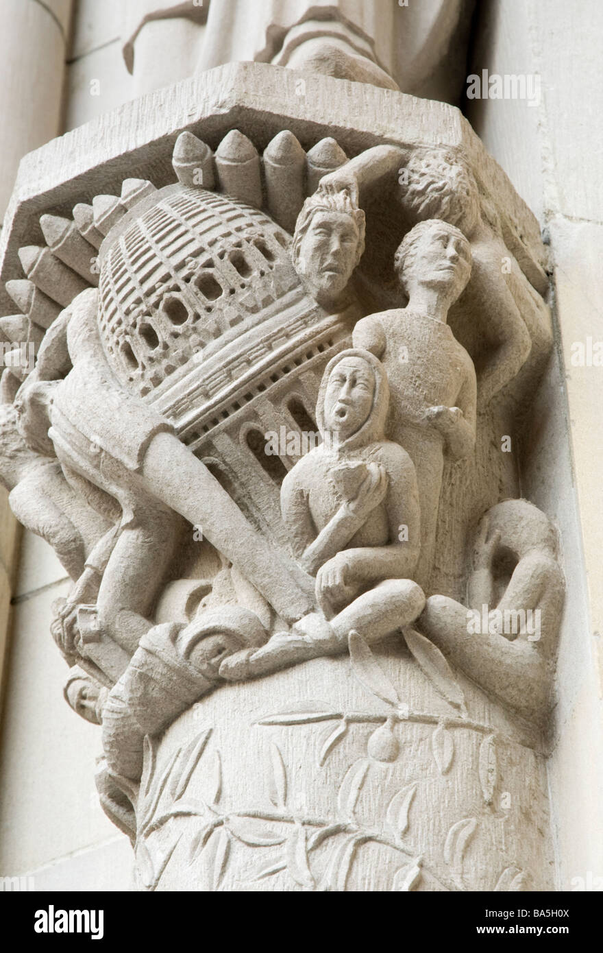 Architectural Detail from Cathedral of St John the Divine in New York City - Stock Image