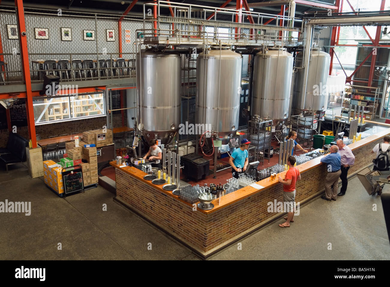 Little Creatures Brewery, renowned for its home brewed ales.  Fremantle, Western Australia, AUSTRALIA - Stock Image