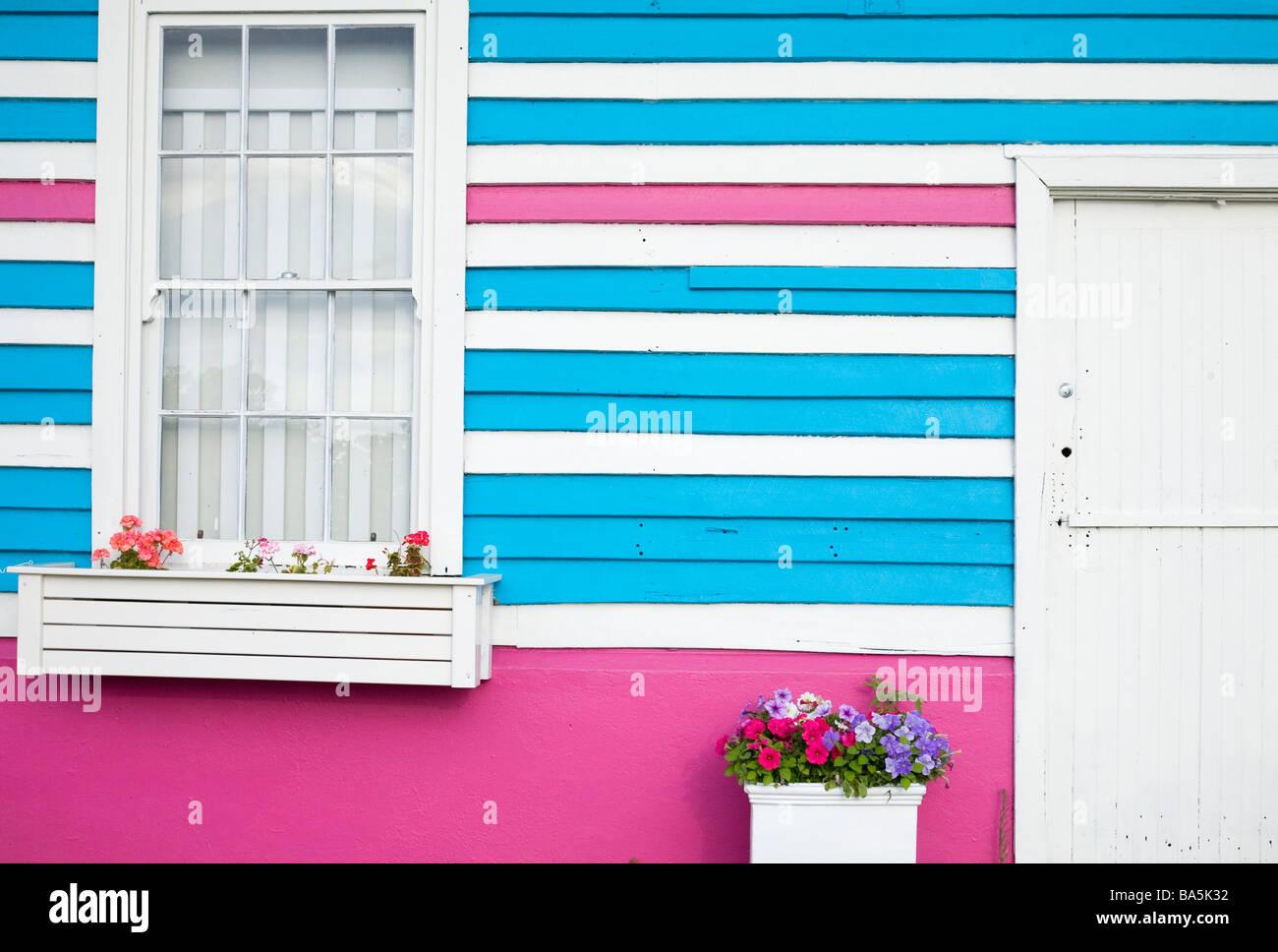 Colourful surf shack at Yallingup, Western Australia, AUSTRALIA - Stock Image