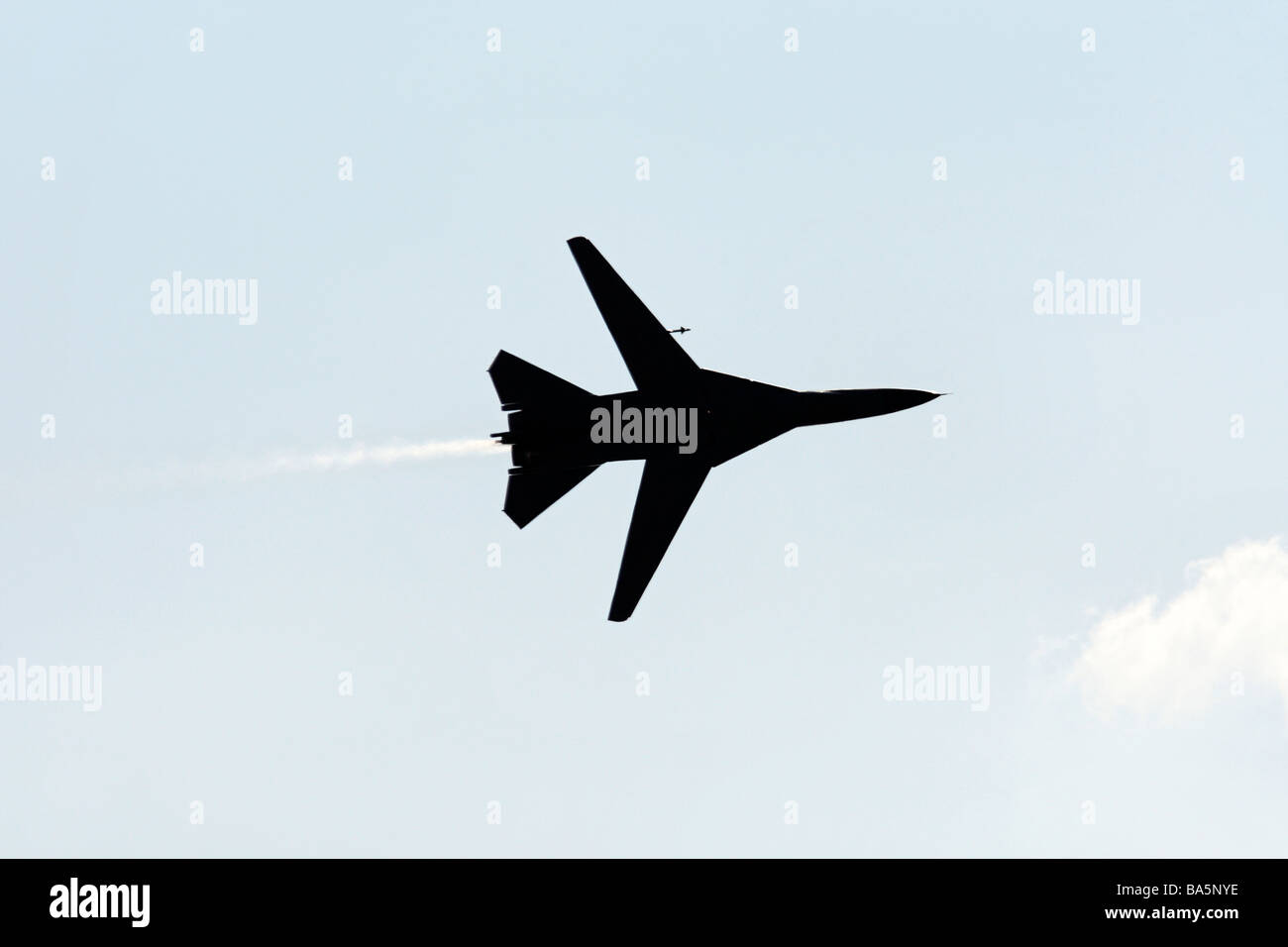 General Dynamics F 111 Swing Wing Fighter Bomber in Flight - Stock Image