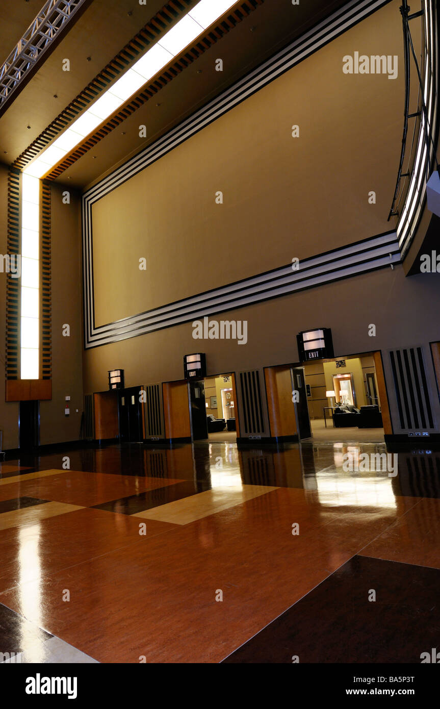 Art Moderne design in the renovated seventh floor Carlu auditorium Toronto Stock Photo