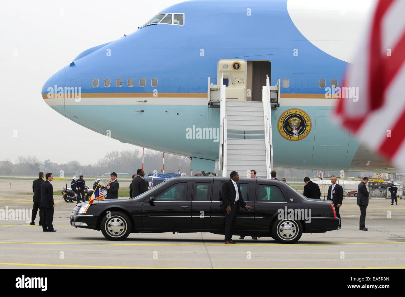 The plane of the US president, Air Force One. - Stock Image