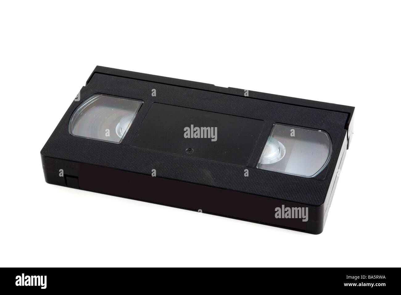 A VHS video cassette with logos trademarks removed - Stock Image