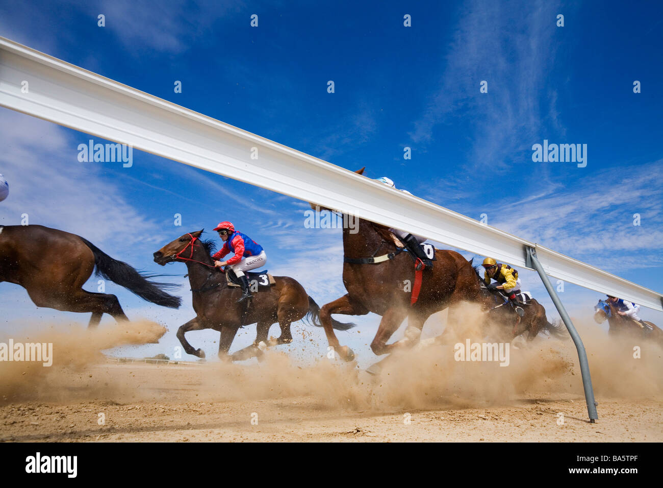 Birdsville races.  Birdsville, Queensland, AUSTRALIA Stock Photo