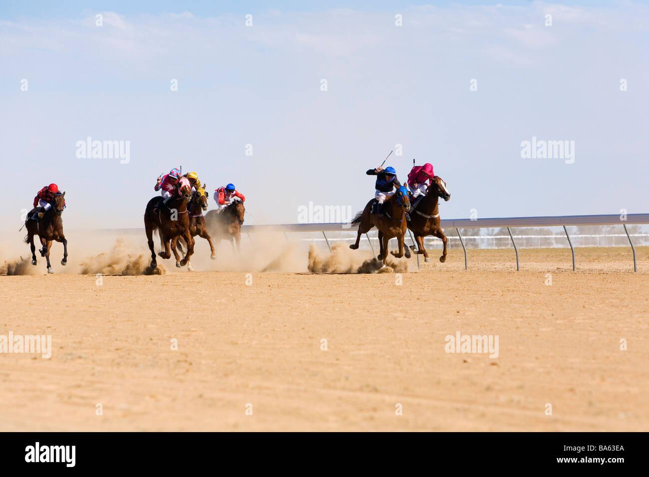 Birdsville horse racing carnival in outback Australia.  Birdsville, Queensland, AUSTRALIA - Stock Image