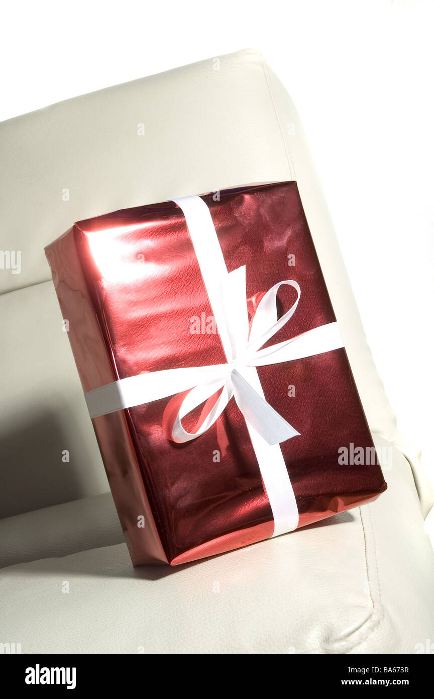Leather Sofa Knows Gift Package Red Bow Christmas Birthday Present Surprise Packed Packs Jubilee