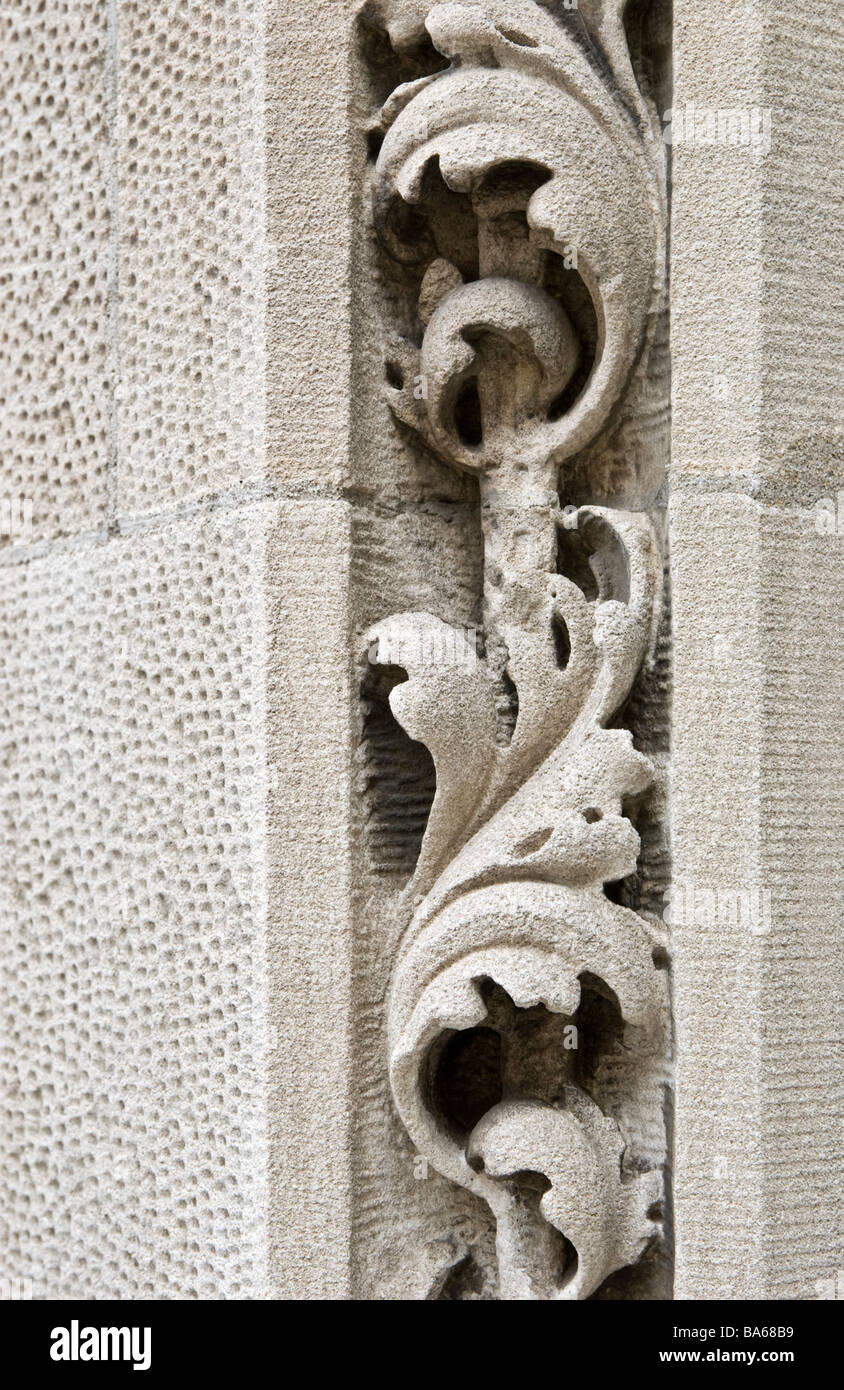 Architectural detail of a building on Riverside Drive in Manhattan - Stock Image