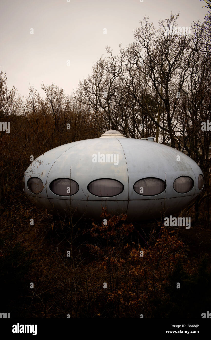 Matti Suuronen, Futuro, The UFO is located in the woods of Norway. It is used as a summerhouse. - Stock Image