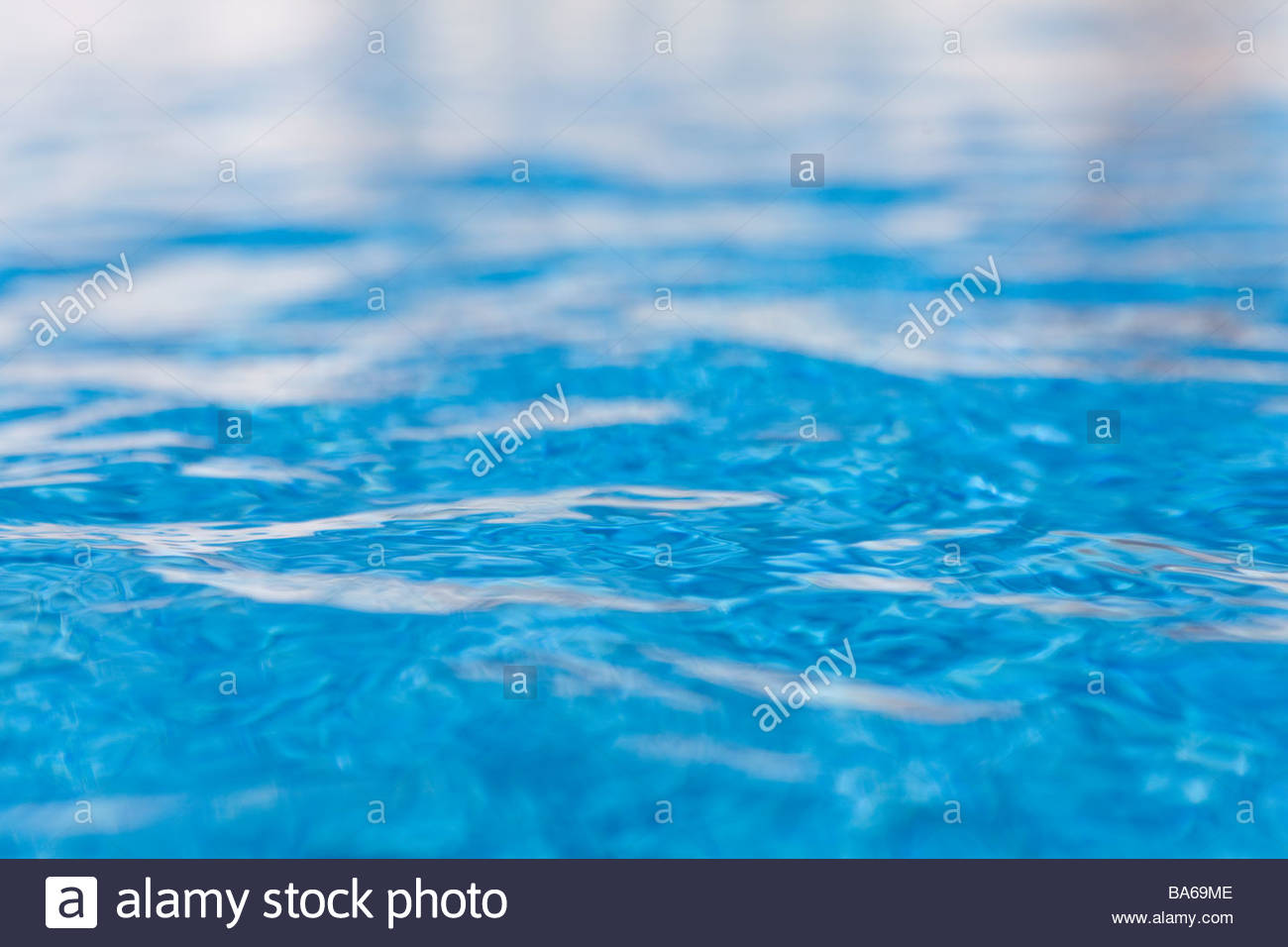 Close up of shimmering water in swimming pool - Stock Image
