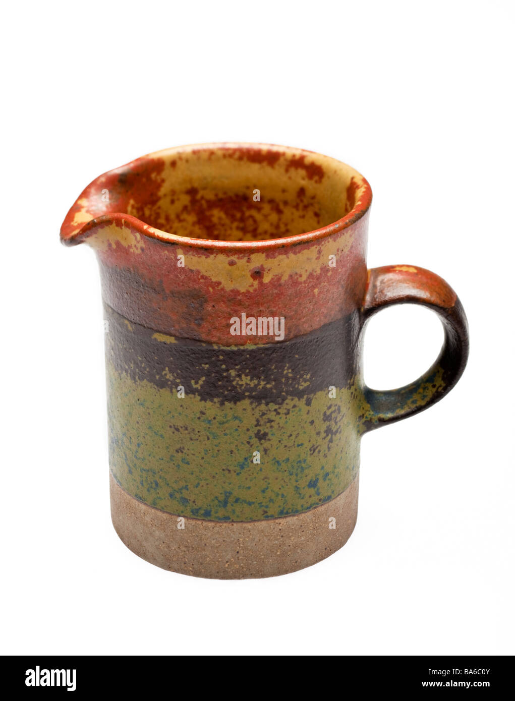Pottery creamer jug - Stock Image