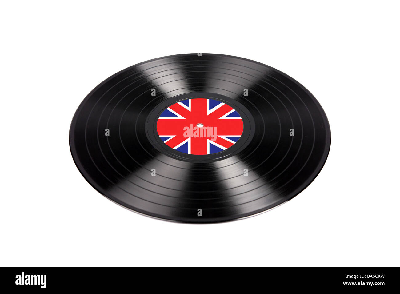 1960s LP vinly recording with a british Union Jack Label usually associated with the Mods or later Punk Rock music - Stock Image