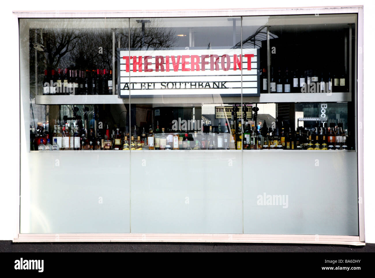 British Film Institute bar, South Bank, London - Stock Image