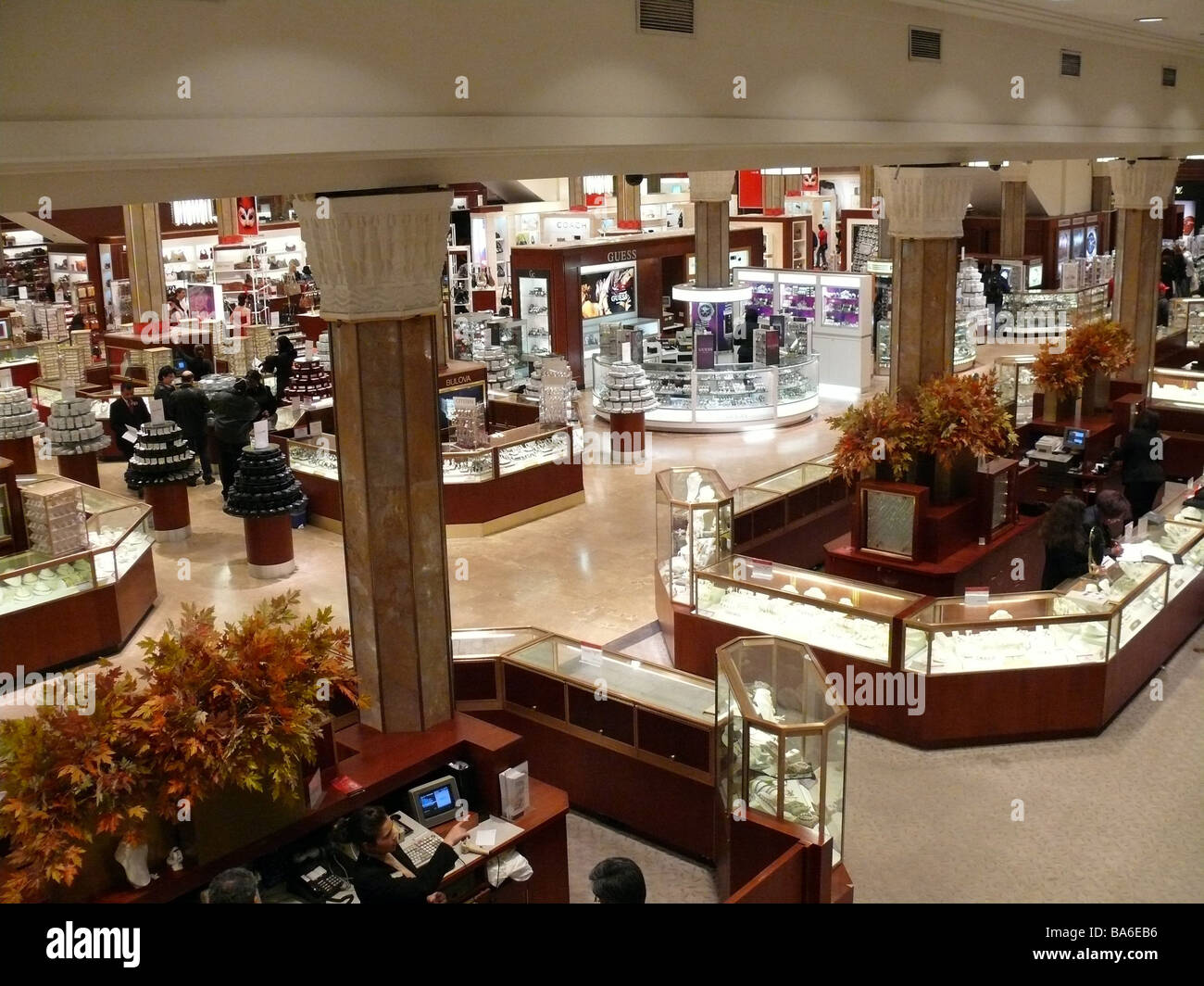 af822c245325 USA New York city department store Macy s indoors jewelry-department  America city Manhattan business department