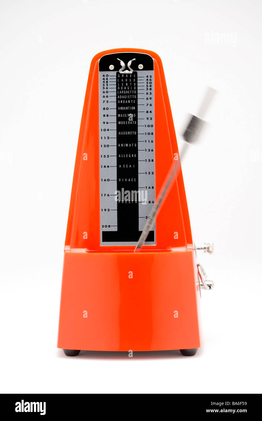Metronome front view - Stock Image