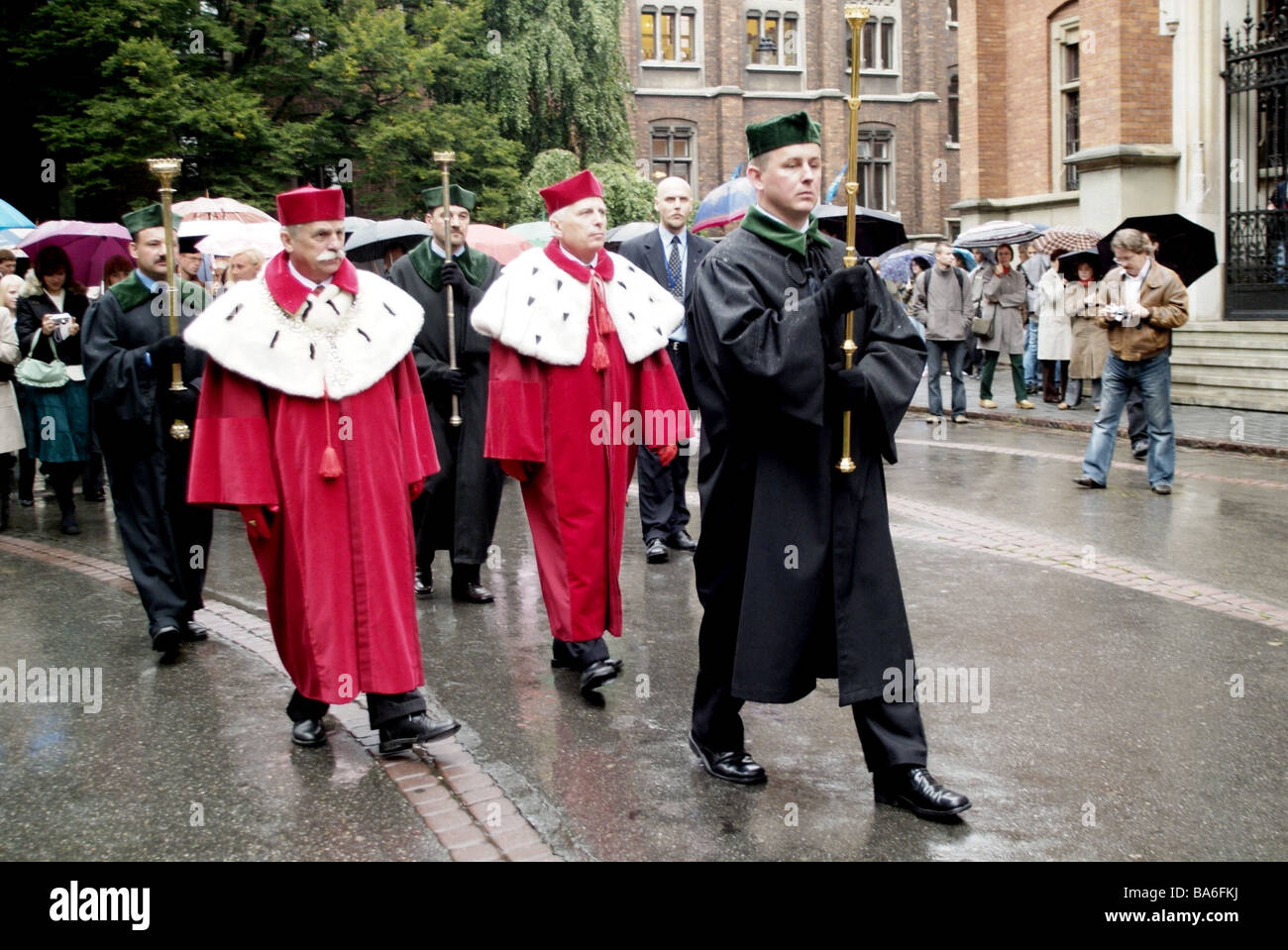 Poland Cracow models investiture teaching-strengths no release only editorially festively people group move move - Stock Image
