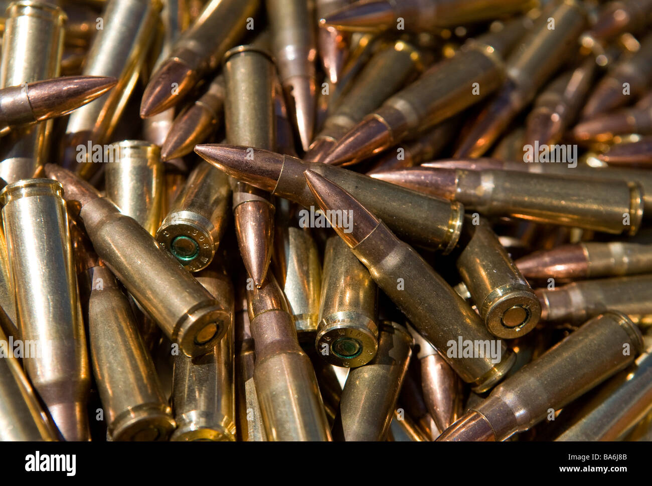 12 April 2009 Frederick Maryland Small caliber rifle ammunition An ammunition shortage has hit the United States - Stock Image