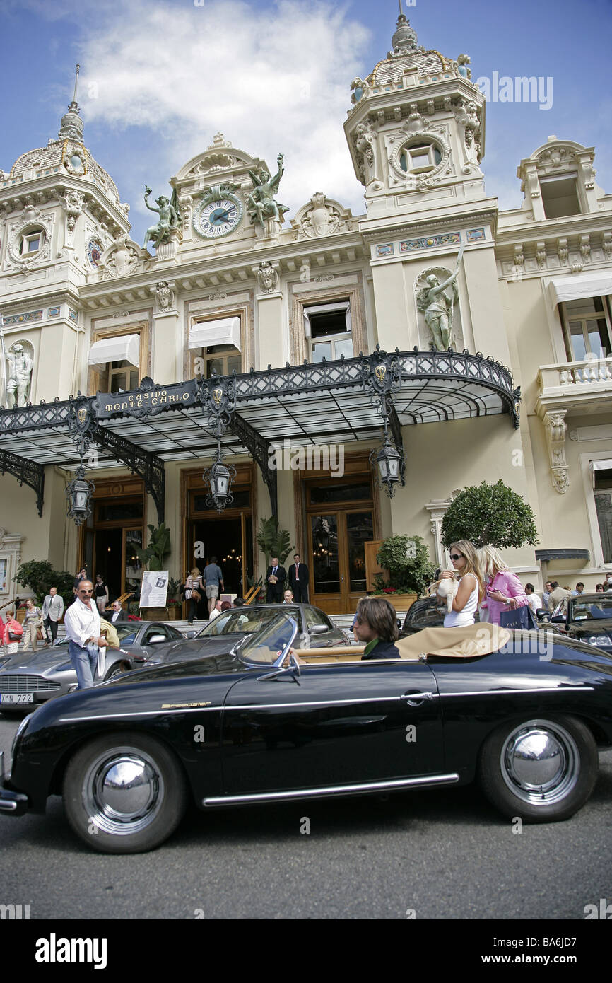 Monaco Monte Carlo Spielcasino passers-by - Stock Image