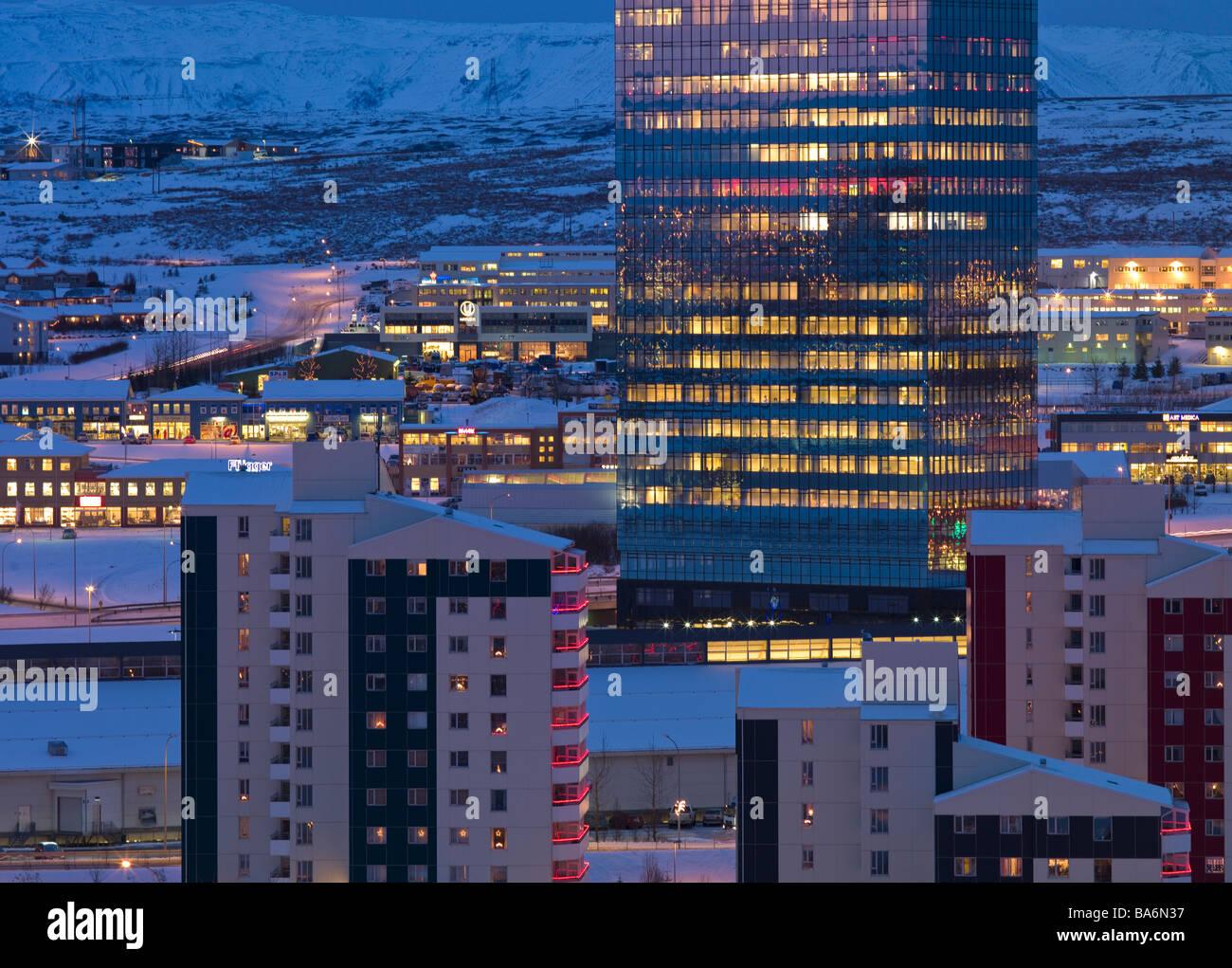 Kopavogur, suburb of Reykjavik, Iceland - Stock Image