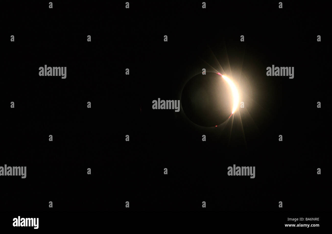 France, total solar eclipse (August 11, 1999) - Stock Image