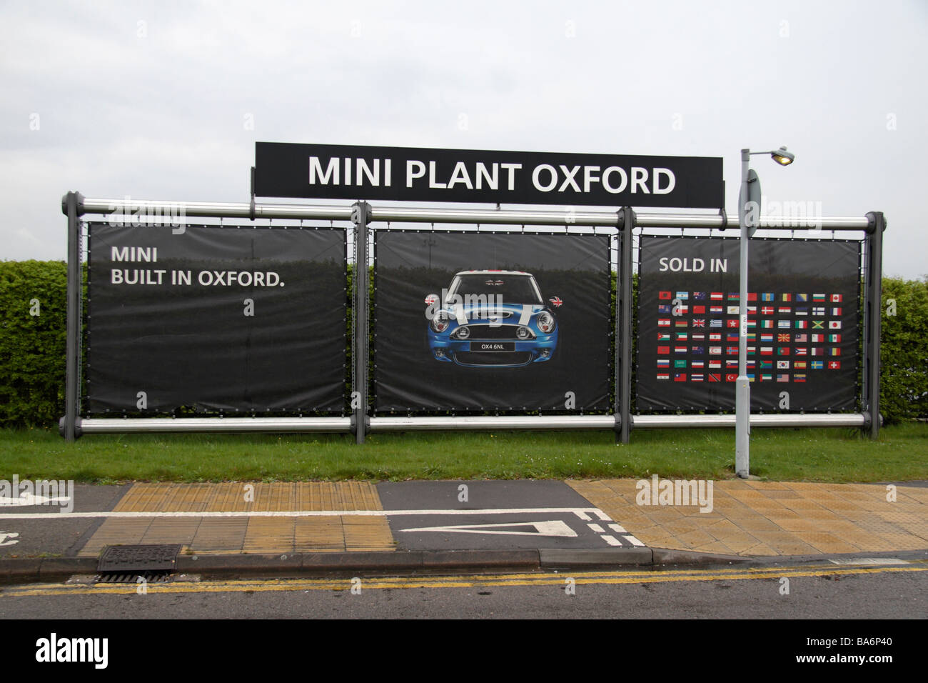 Straight On View Of A Sign At The Entrance To The Bmw Group Mini