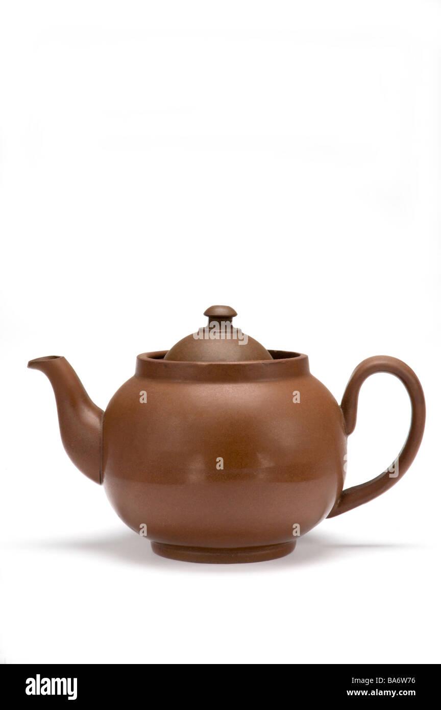 Brown teapot - Stock Image