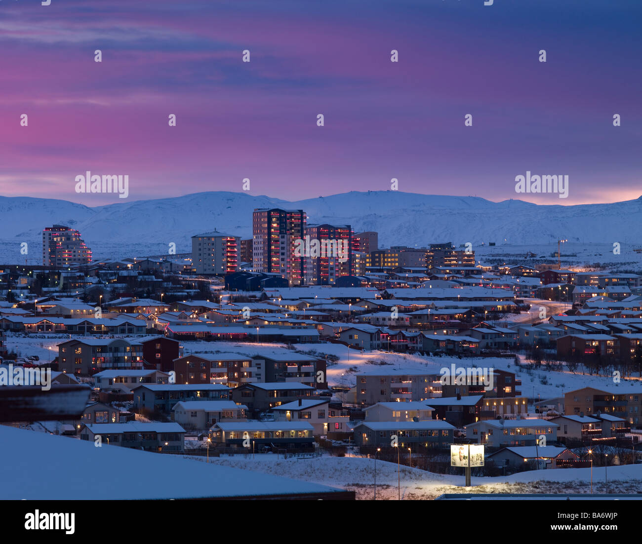 Kopavogur, suburb of Reykjavik, Iceland Stock Photo