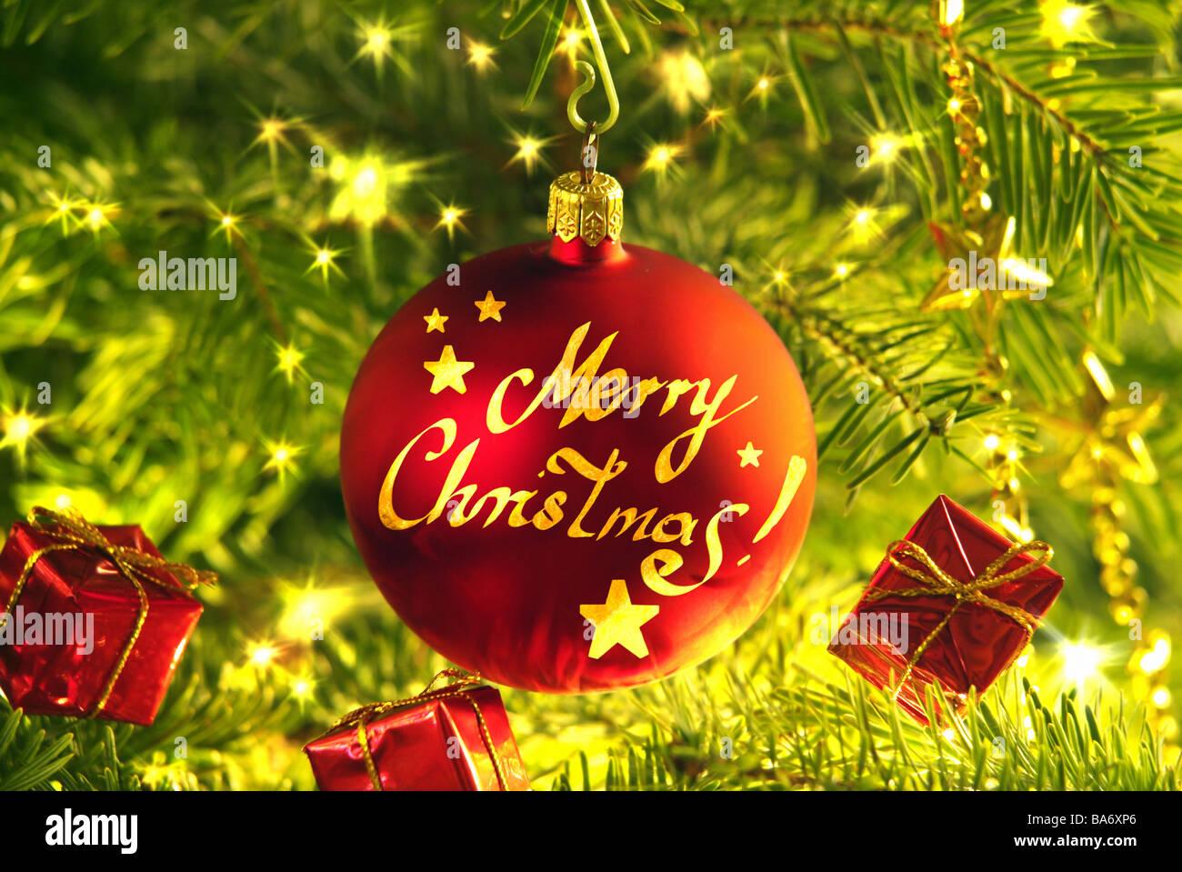 Christmas Christian Tree Close Up Fir Branches Christian Tree Ball