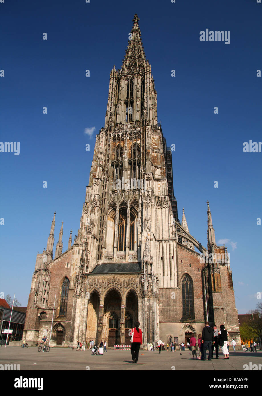 Ulm Cathedral, the tallest church in the world Stock Photo