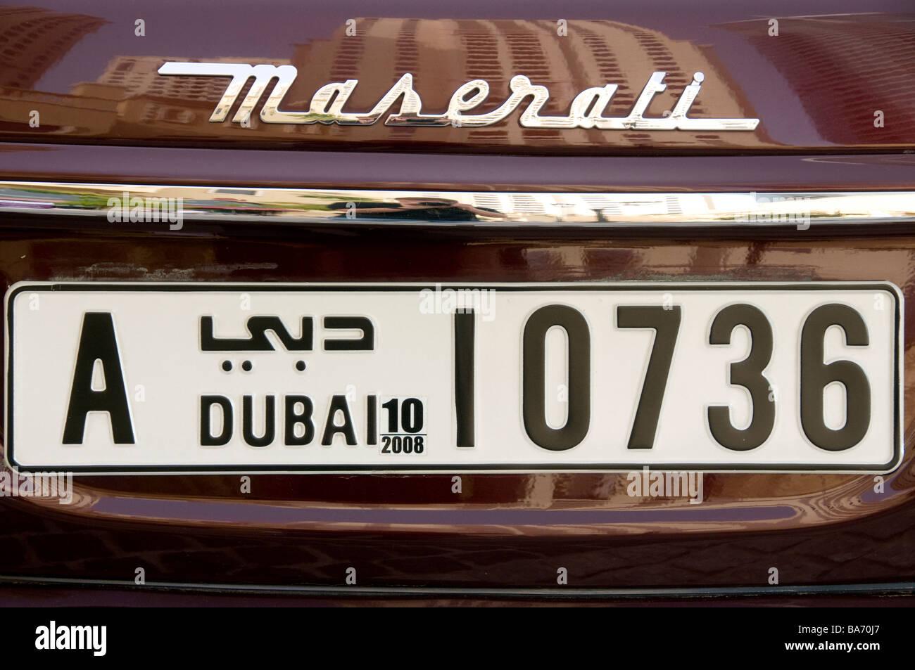 Maserati in Dubai United Arab Emirates - Stock Image