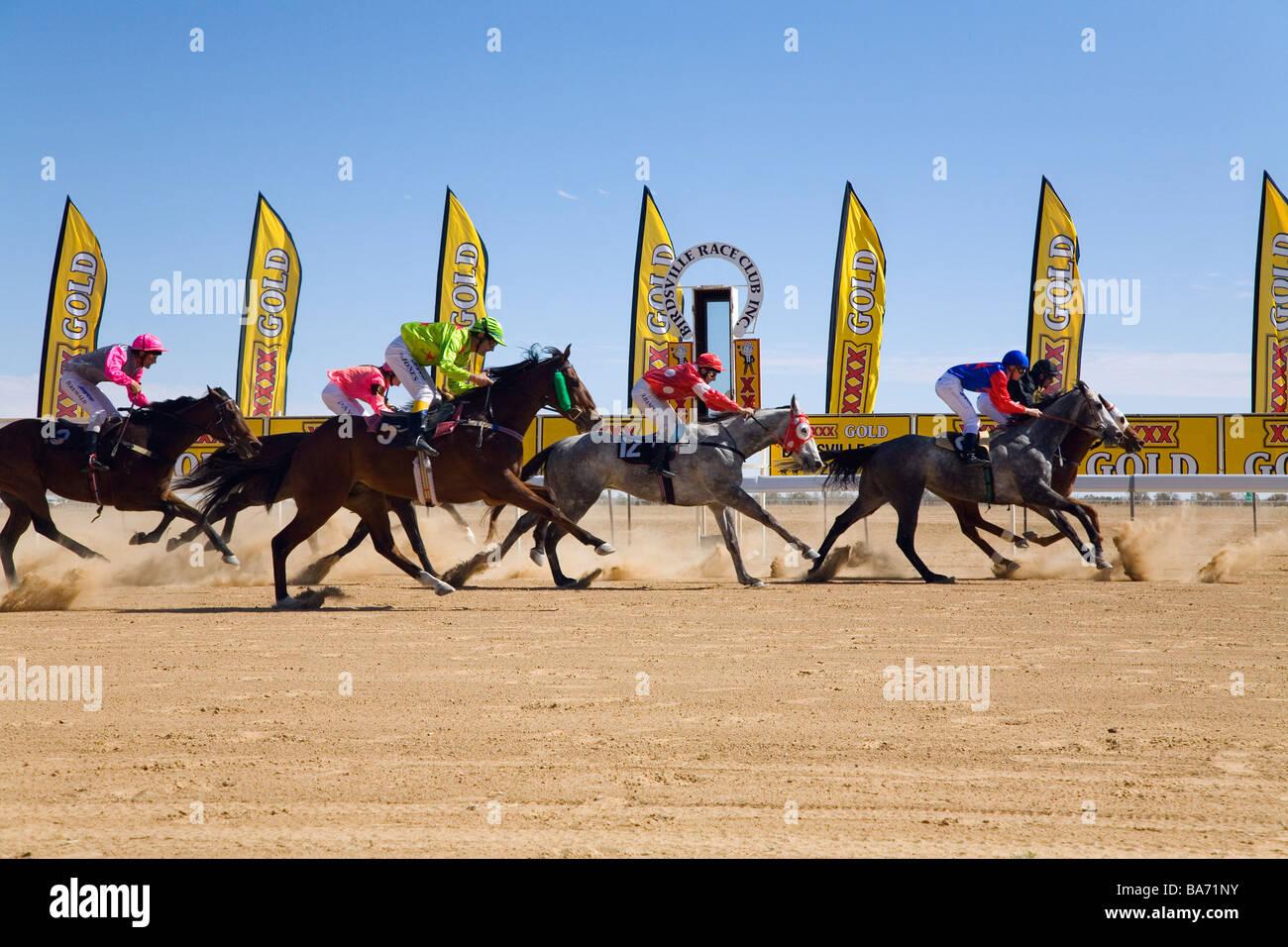 Birdsville Races.  Birdsville, Queensland, AUSTRALIA - Stock Image