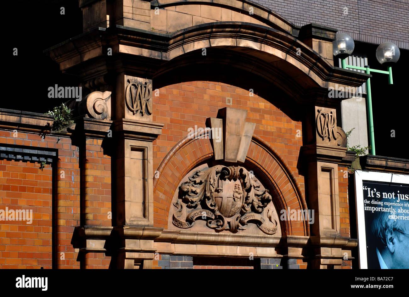 Former doorway at Snow Hill Station, Birmingham, England, UK Stock Photo