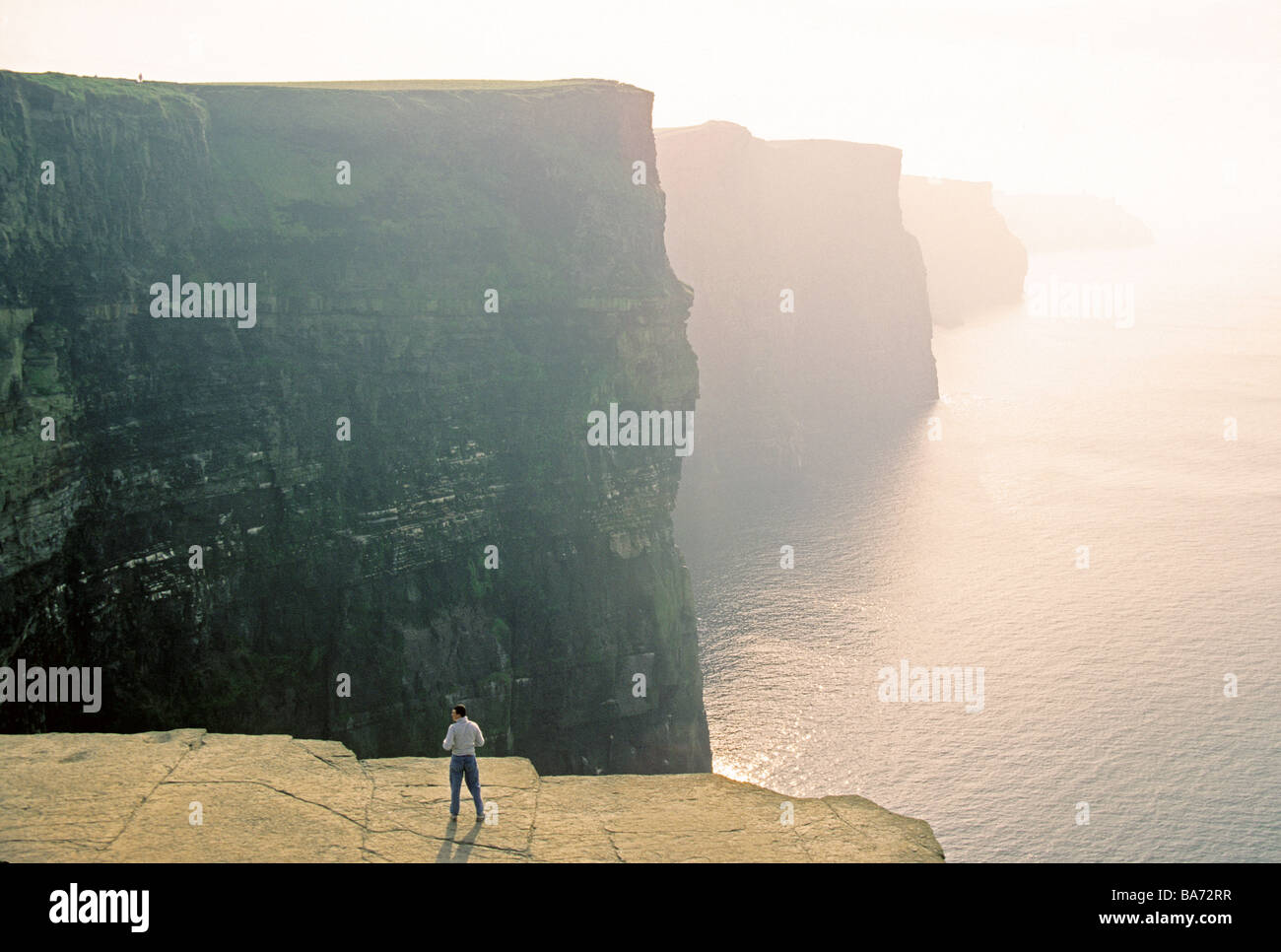 Ireland's Cliffs of Moher in County Claire - Stock Image