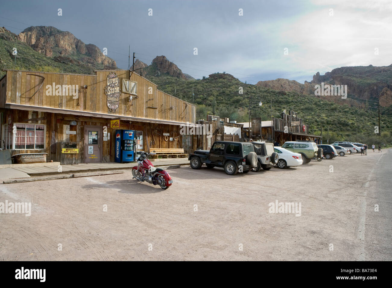Tortilla Flat is an authentic remnant of an old west town nestled in the midst of the Tonto National Forest Apache - Stock Image