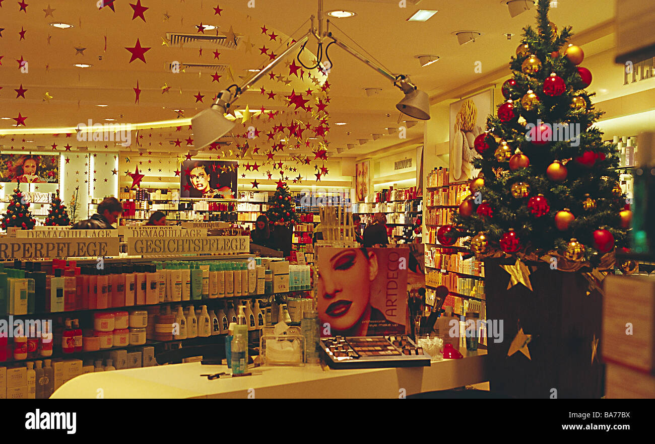 Shopping Center Perfumery Christmas Decoration No Property Release Business  Stores Sale Retails Christmas Time Advent