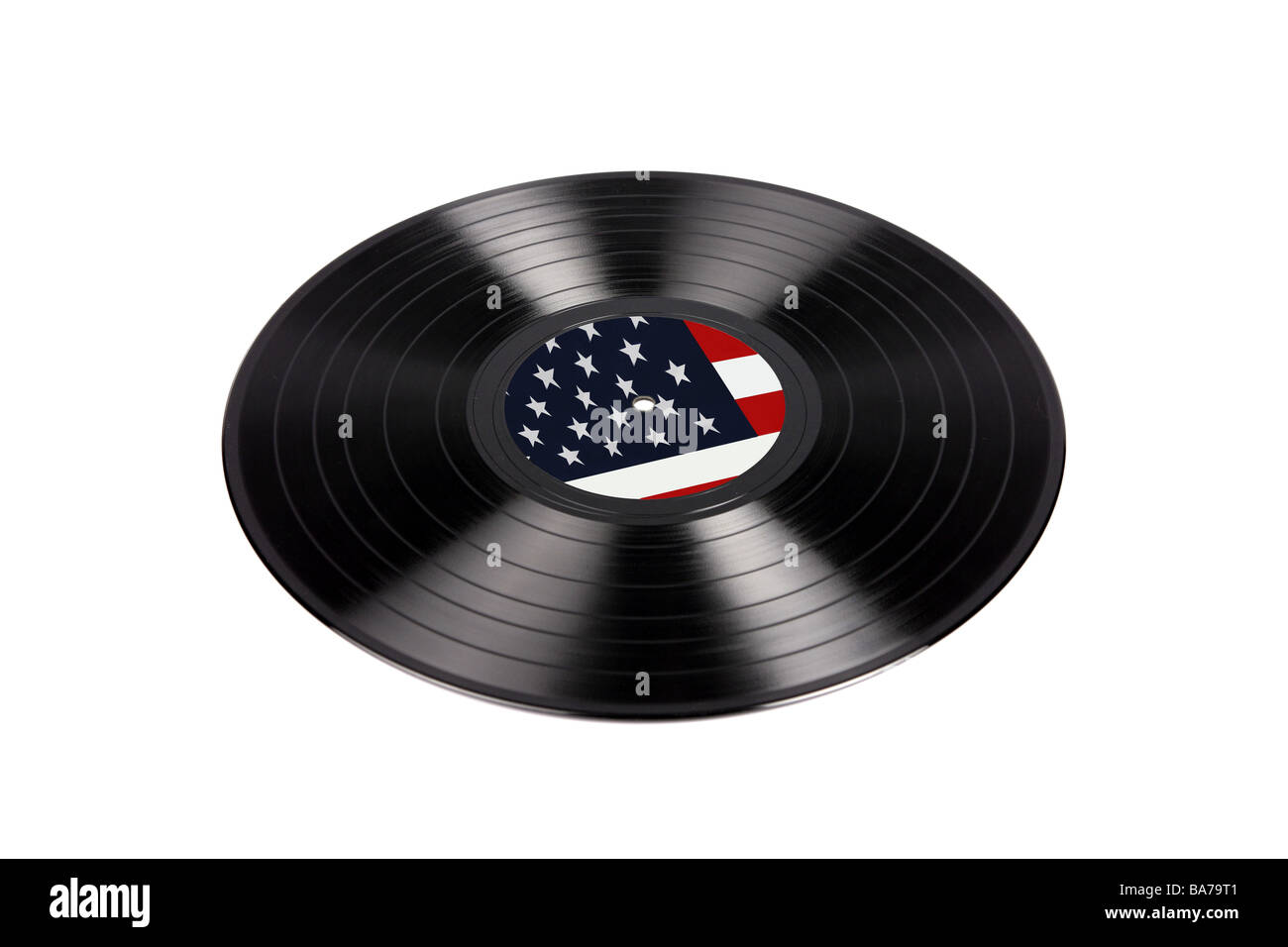 1960s LP vinly recording with a US Stars and stripes Label usually associated with the anti Vietnam movement and - Stock Image