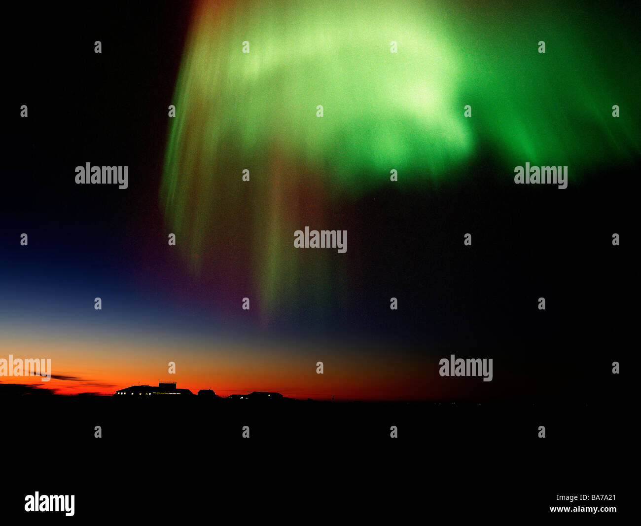 Aurora Borealis or Northern Lights, Iceland - Stock Image