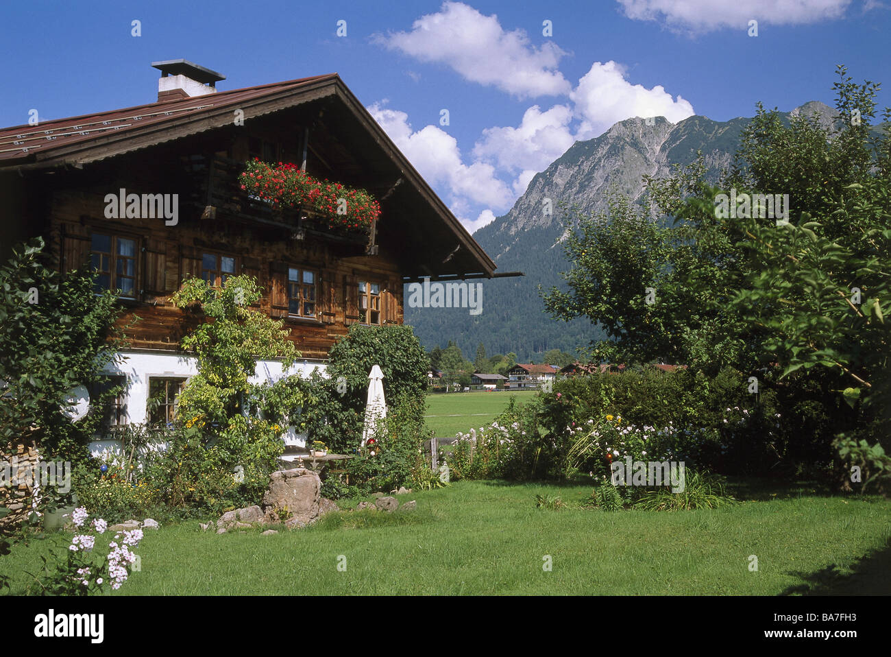 Germany Oberallgäu Colonel Village Farmhouse Summers Buildings House  Residence Living Rural Typically Outside Garden Flowers