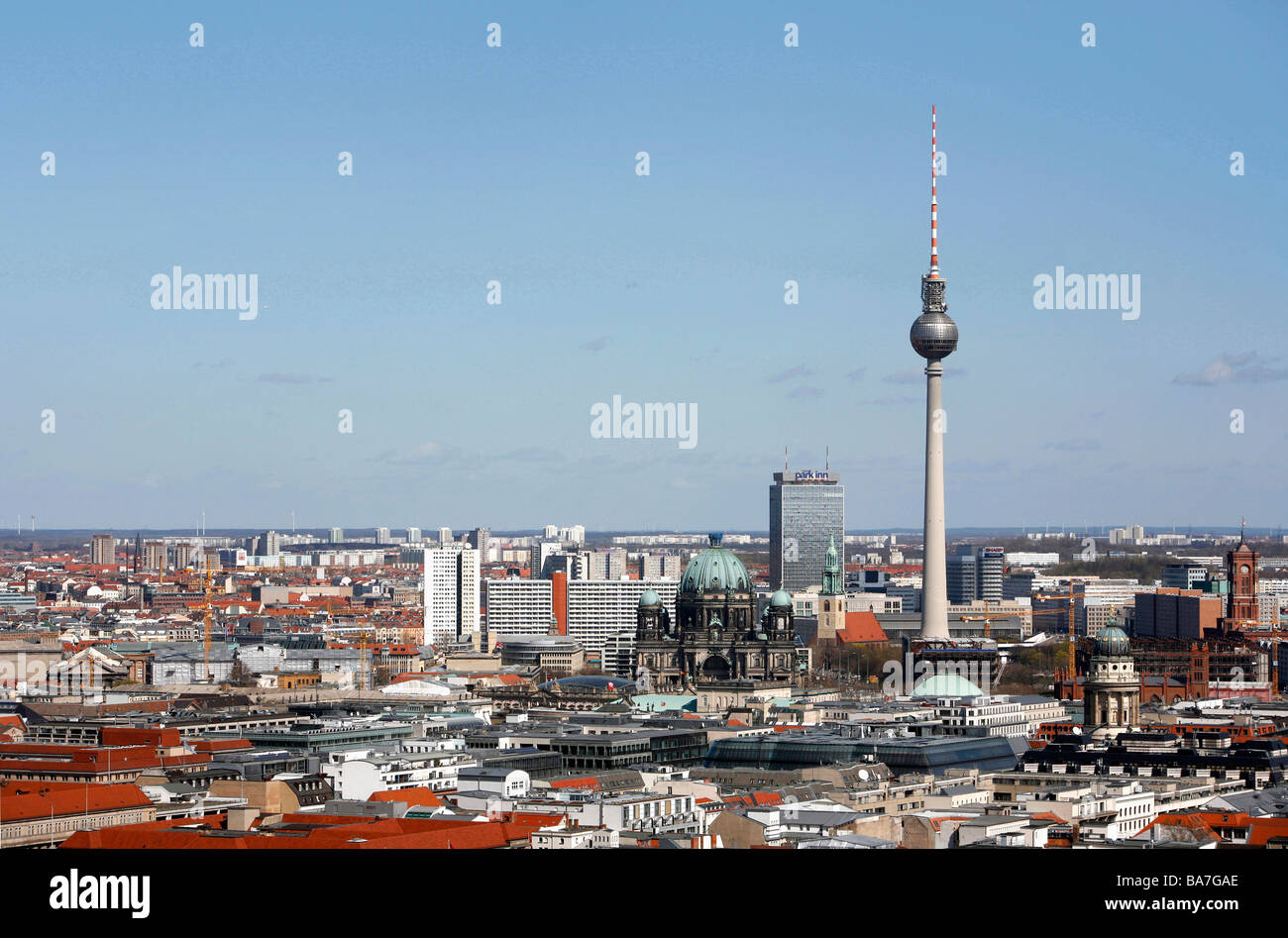 Television Tower and Mitte, Berlin, Germany - Stock Image
