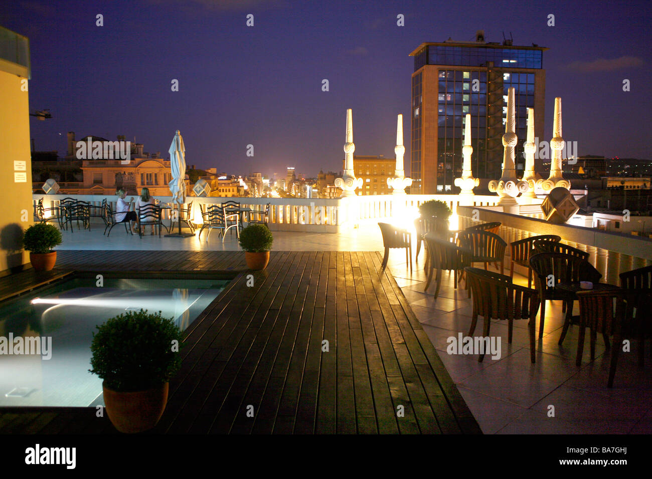 Hotel Casa Fuster Roof Terrace Barcelona Catalonia Spain