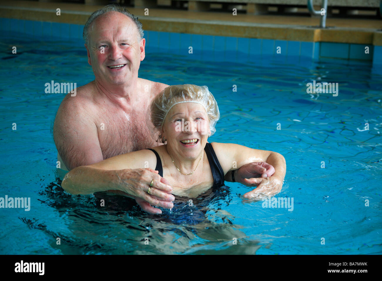 hot tub old people stock photos hot tub old people stock images alamy. Black Bedroom Furniture Sets. Home Design Ideas
