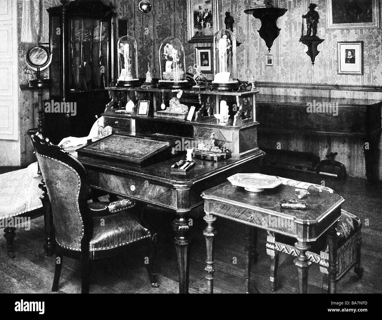 Verdi, Giuseppe, 10.10.1813 - 27.1.1901, Italian composer, his desk, Villa Sant' Agata, Additional-Rights-Clearances - Stock Image