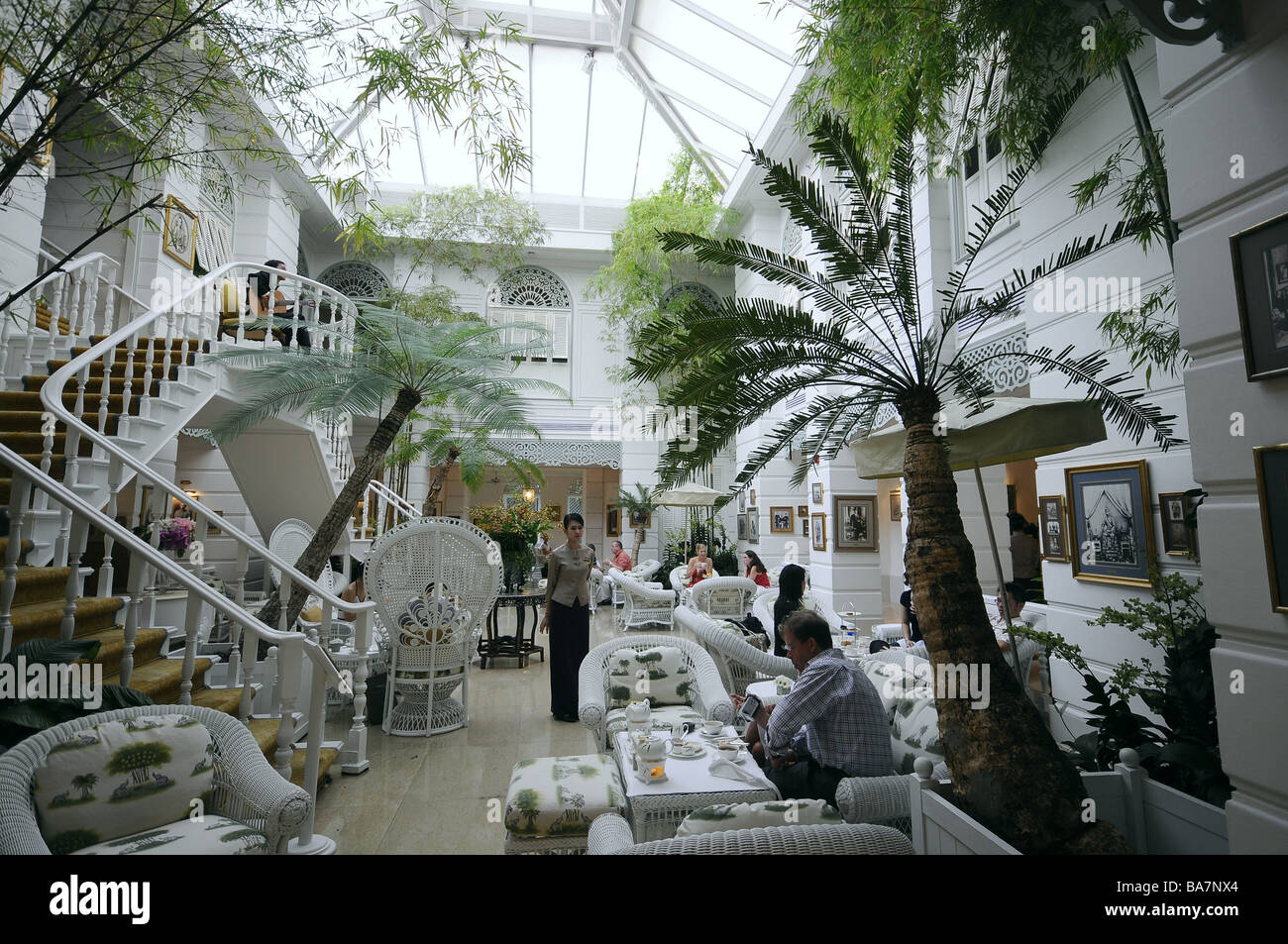 Authors Lounge, The Oriental Hotel, Bangkok, Thailand - Stock Image